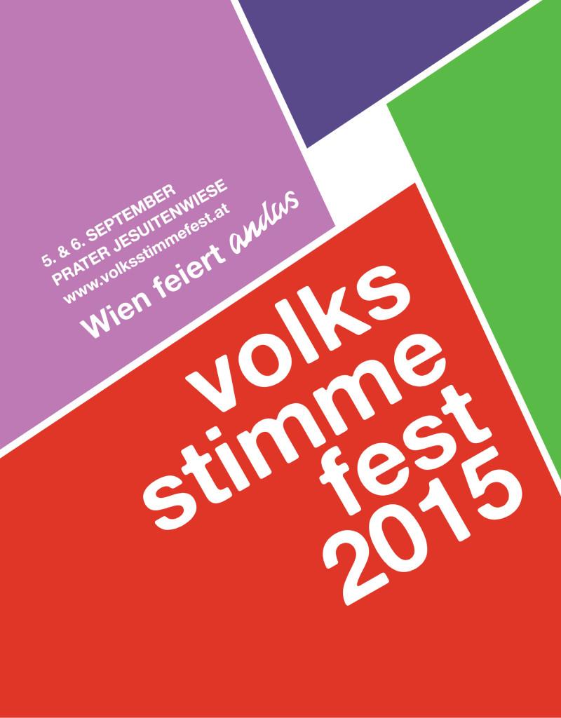 Volksstimmefest 2015 Plakat