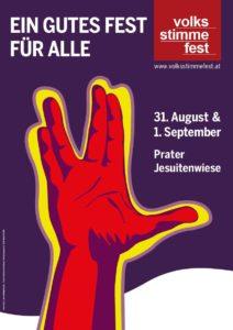Plakat Volksstimmefest 2019