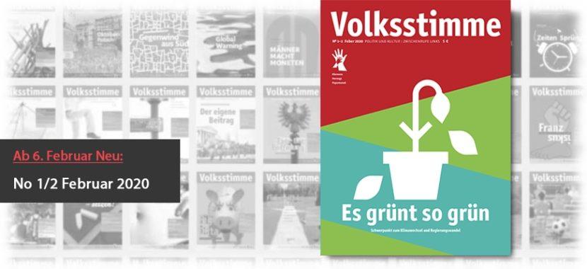 Volksstimme Cover Zeitung Februar 2020