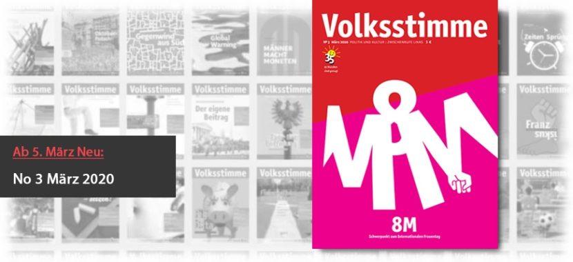 Volksstimme Cover Zeitung März 2020