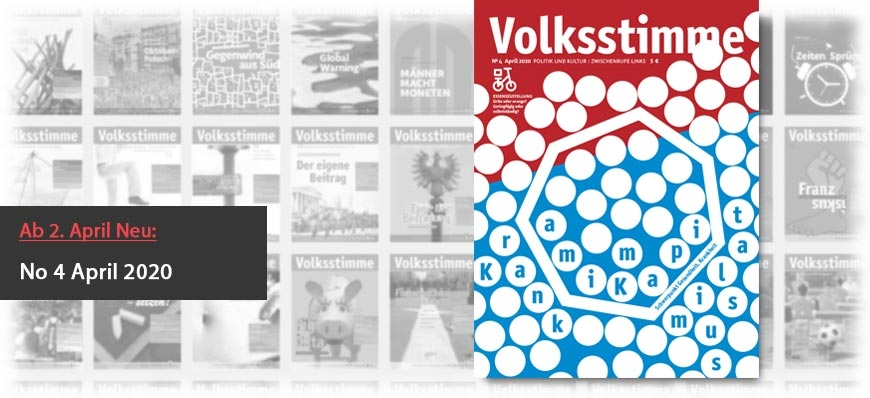 Volksstimme Cover Zeitung April 2020