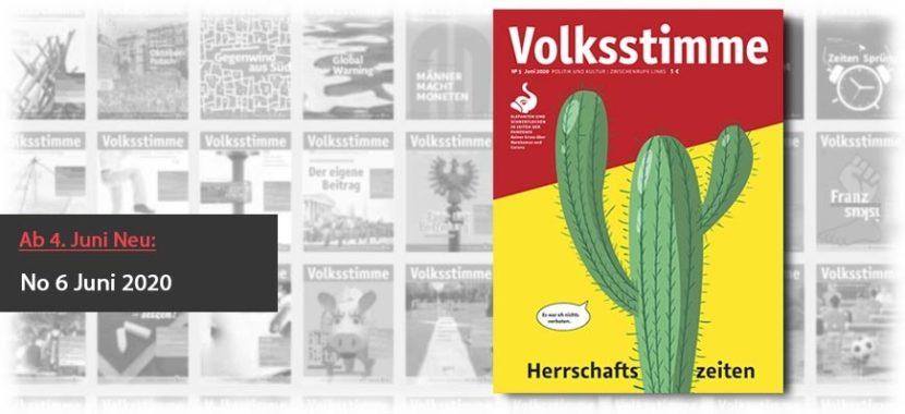 Volksstimme Cover Zeitung Juni 2020