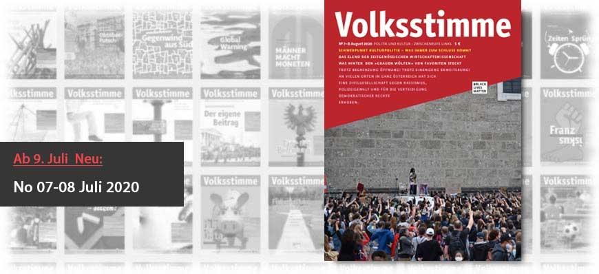 Volksstimme Cover Zeitung Juli / August 2020