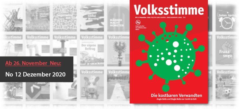 Volksstimme Cover Zeitung Dezember 2020